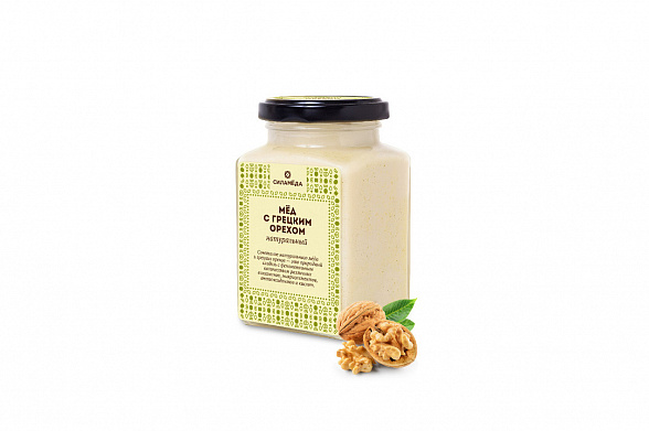Natural honey with walnuts
